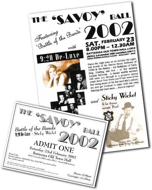 The Savoy Ball 2002 - flyer and ticket